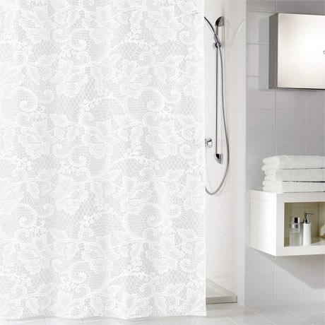 Kleine Wolke - Spitze PEVA Shower Curtain - W1800 x H2000 - 5292-100-305