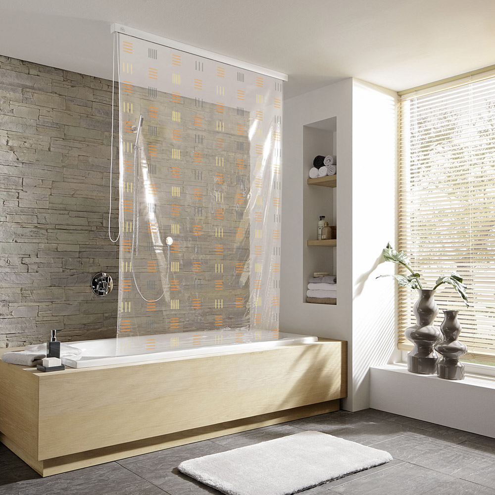 Kleine Wolke - Vinyl Copper Shower Roller Blind W1340 x H2400mm (Parts A+B) profile large image view 1