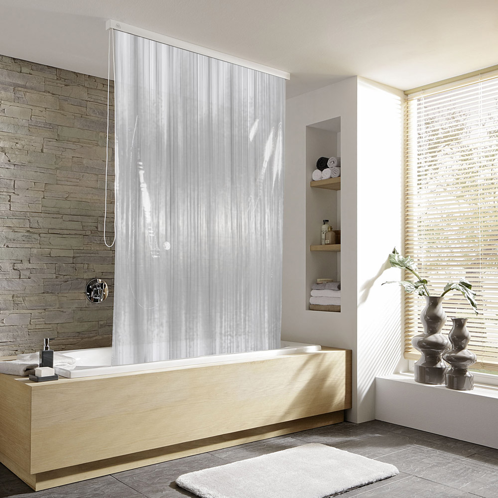 Kleine Wolke - Vinyl Milky Shower Roller Blind W1340 x H2400mm (Parts A+B)