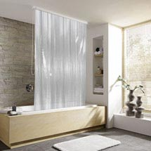 Kleine Wolke - Vinyl Milky Shower Roller Blind W1340 x H2400mm (Parts A+B) Medium Image