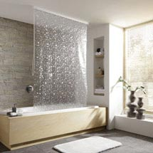 Kleine Wolke - Vinyl Pearl Shower Roller Blind W1340 x H2400mm (Parts A+B) Medium Image