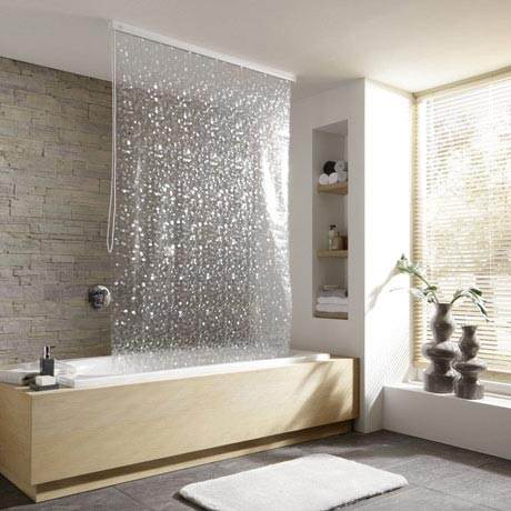 Kleine Wolke - Vinyl Pearl Shower Roller Blind W1340 x H2400mm (Parts A+B)