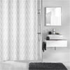 Kleine Wolke - Zig Zag Polyester Shower Curtain - W1800 x H2000 profile small image view 1