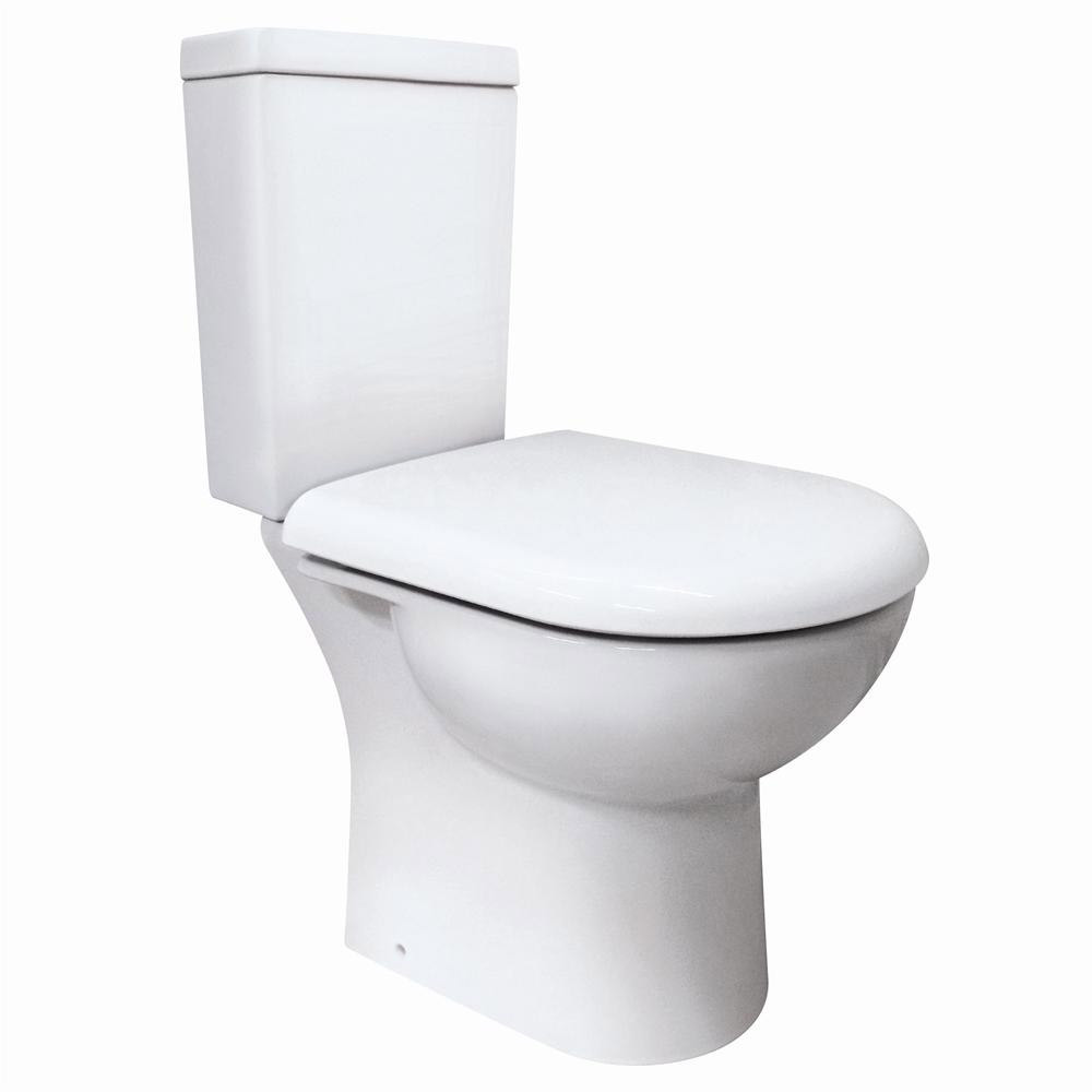 Knedlington Short Projection Cloakroom Toilet with Seat profile large image view 3