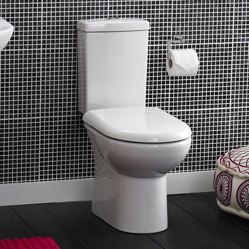 Knedlington Short Projection Cloakroom Toilet with Seat profile large image view 4