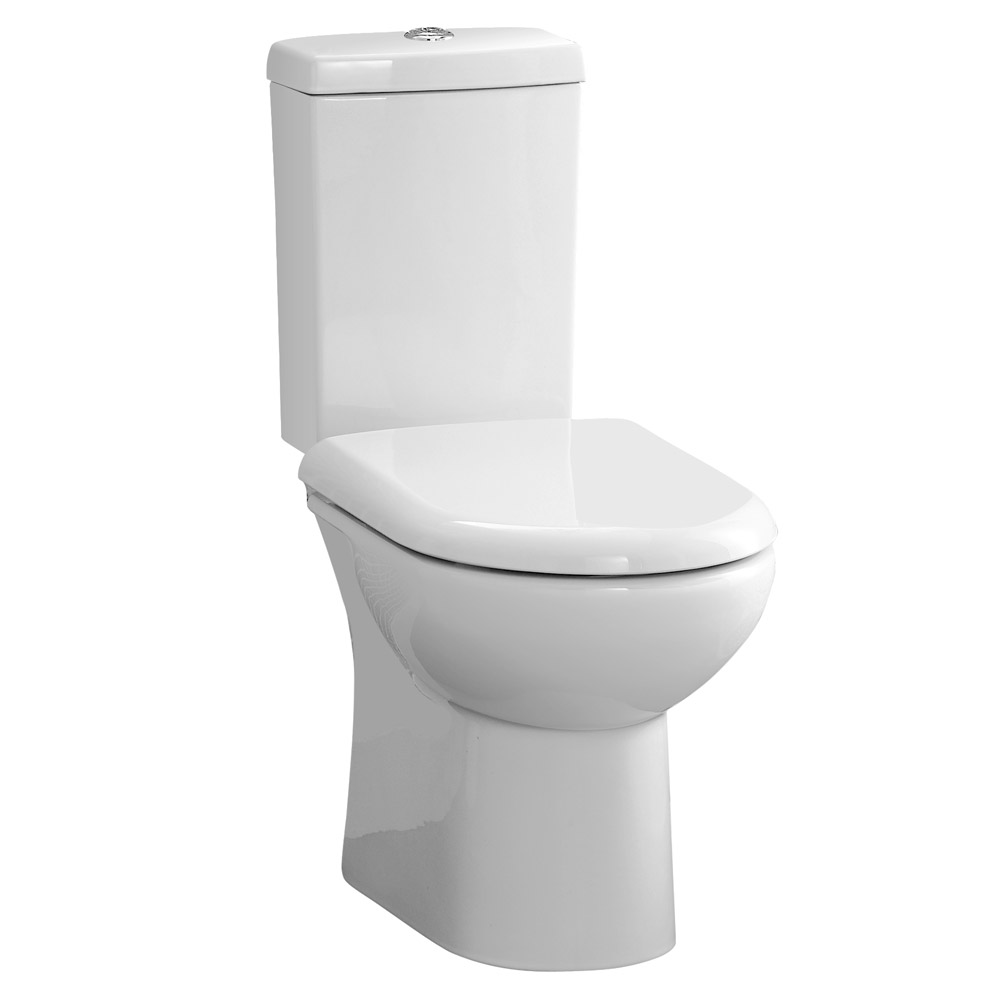 Knedlington Short Projection Cloakroom Toilet with Seat Large Image