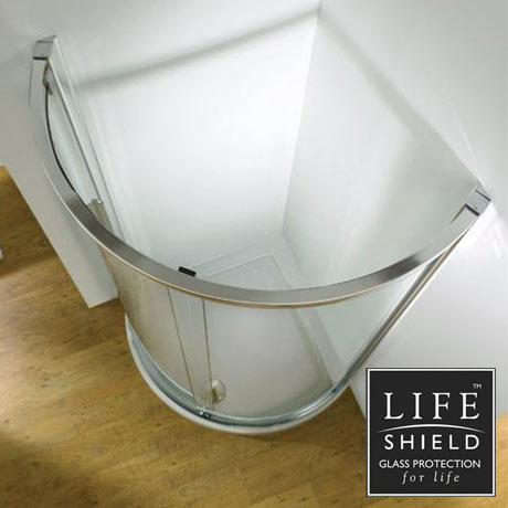 Kudos Original 910 Curved Side Access Sliding Shower Enclosure + Tray