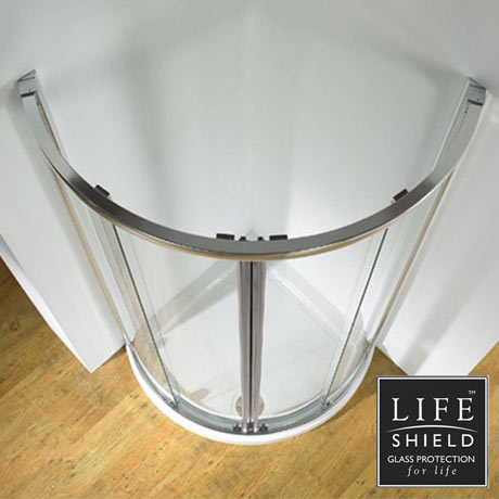 Kudos Original 910 Curved Sliding Shower Enclosure + Tray