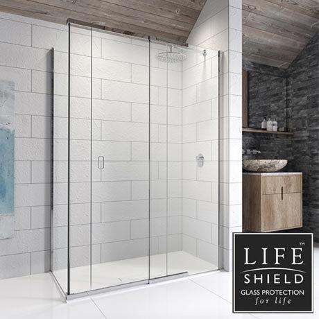 Kudos Pinnacle 8 1200 x 800mm Sliding Door Shower Enclosure for Corner
