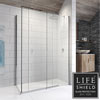 Kudos Pinnacle 8 1200 x 800mm Sliding Door Shower Enclosure for Corner profile small image view 1