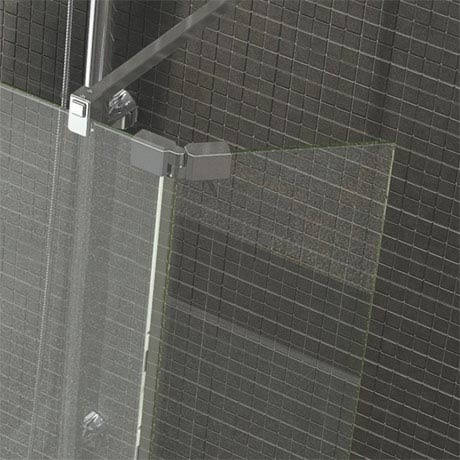 Kudos Ultimate2 300mm 8mm Glass Hinged Deflector Panel - Chrome