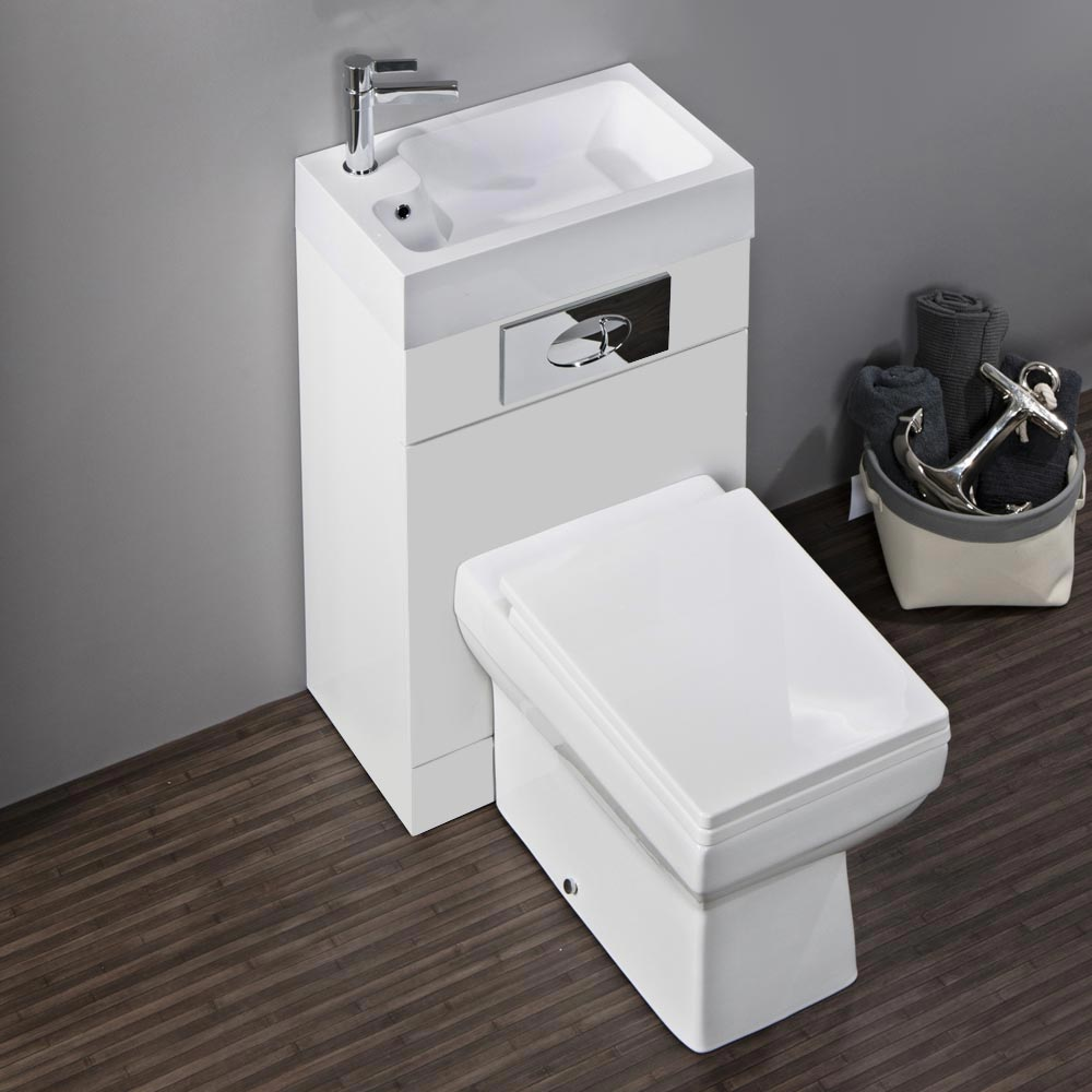 Kyoto combined two in one basin toilet now at for Toilet and sink combo