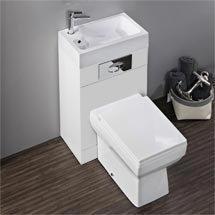 Kyoto Combined Two-In-One Wash Basin & Toilet (500mm wide x 300mm) Medium Image