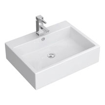 Kyoto Large Rectangular Wall Hung Basin 1TH - 600 x 460mm Medium Image