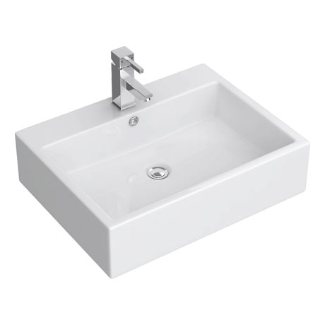 Kyoto Large Rectangular Wall Hung Basin 1TH - 600 x 460mm