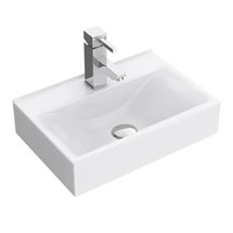 Kyoto Rectangular Wall Hung Basin 1TH - 450 x 305mm Medium Image