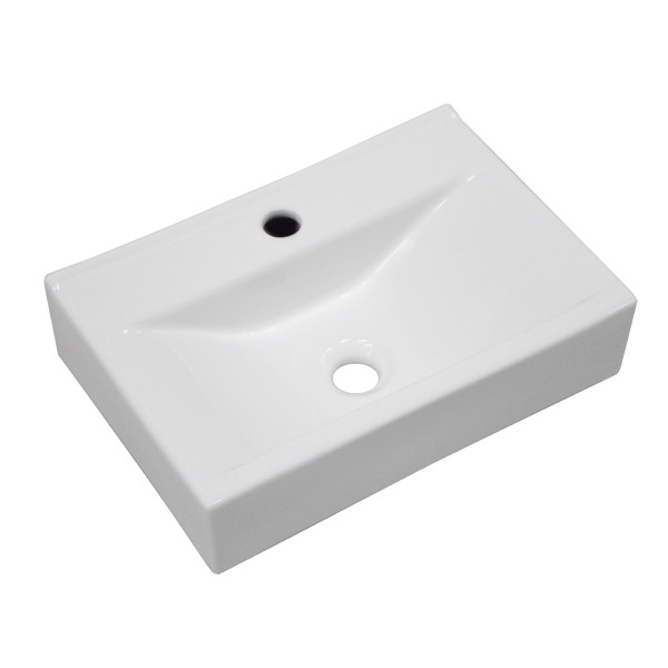 Kyoto Rectangular Wall Hung Basin 1TH - 450 x 305mm Profile Large Image