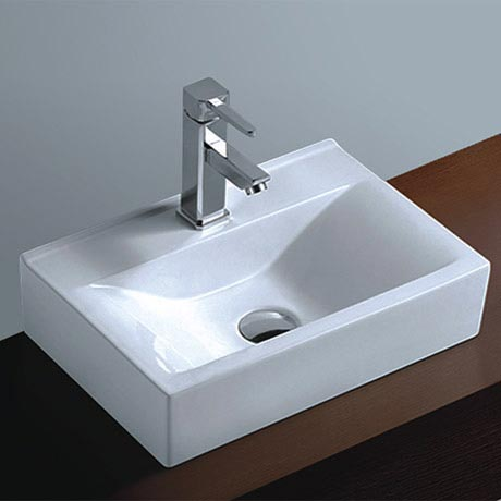 Kyoto Rectangular Wall Hung Basin 1TH - 450 x 305mm