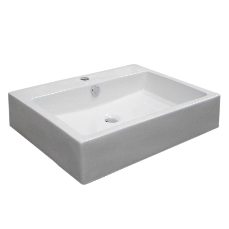 Kyoto Large Rectangular Wall Hung Basin 1TH - 600 x 445mm Profile Large Image