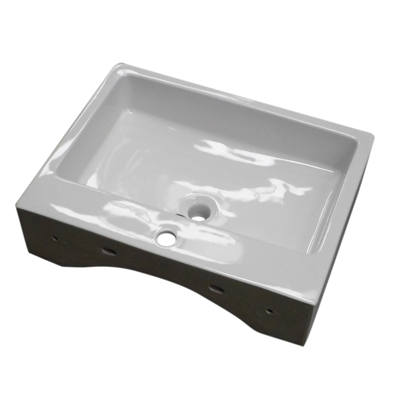 Kyoto Large Rectangular Wall Hung Basin 1TH - 600 x 445mm Feature Large Image