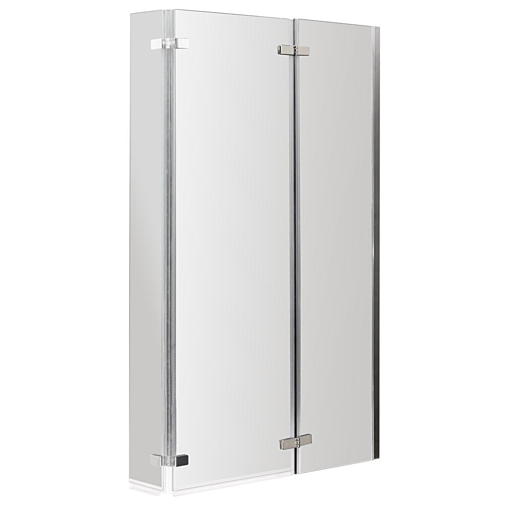 Milan Shower Bath - 1700mm L Shaped with Double Hinged Screen + Panel profile large image view 2