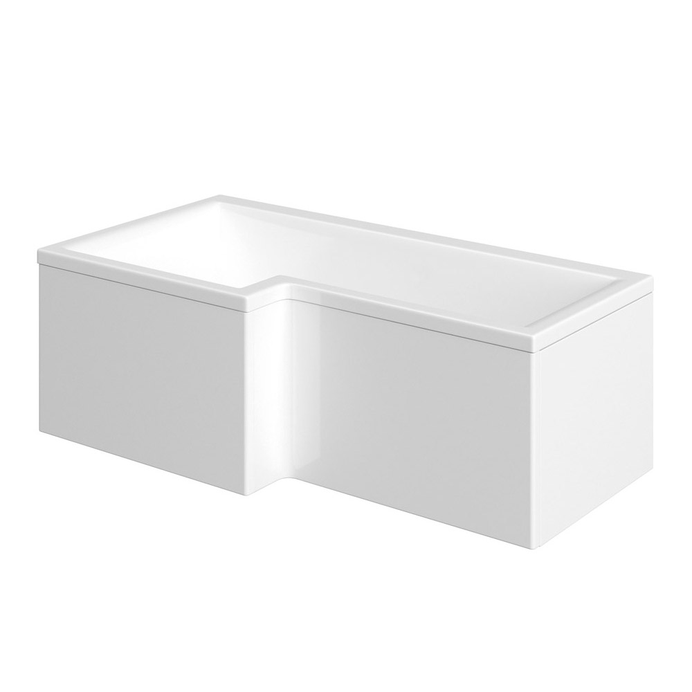 Milan Shower Bath - 1700mm L Shaped with Acrylic Panel