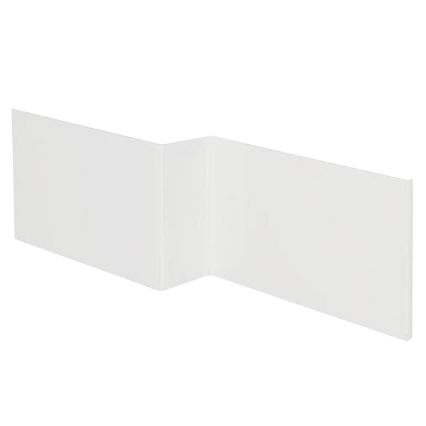 L shaped square bath acrylic front panel victorian for Square narrow shape acrylic