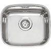 Reginox L183440OKG 1.0 Bowl Stainless Steel Inset/Undermount Kitchen Sink profile small image view 1