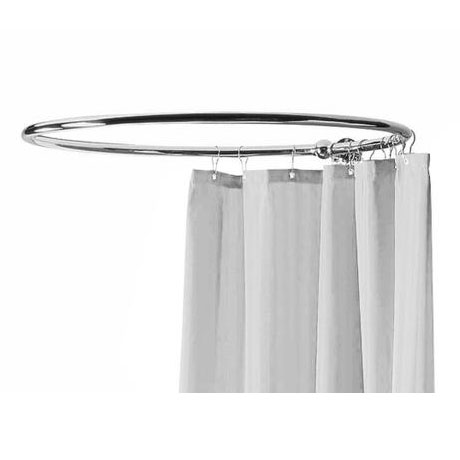 Hudson Reed Round Curtain Rail - Chrome - LA386
