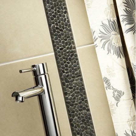 Laura Ashley - 5 Malvern Pebble Charcoal Strips - 300x70mm - LA50945 Profile Large Image