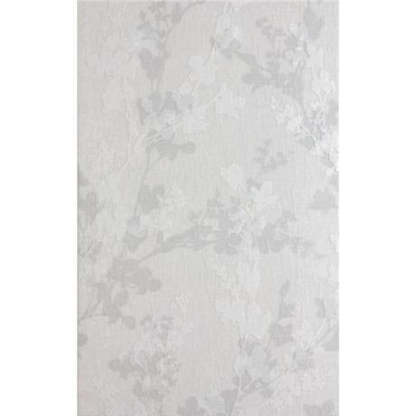 Laura Ashley - 10 Wintergarden Floral Grey Wall Gloss Tiles - 248x398mm - LA51027