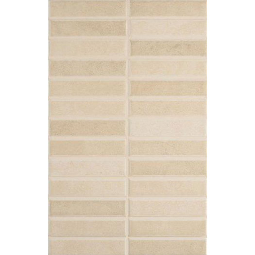 Laura Ashley - 10 Malvern Beige Pressed Mosaic Wall Satin Tiles - 248x398mm - LA51270 Large Image