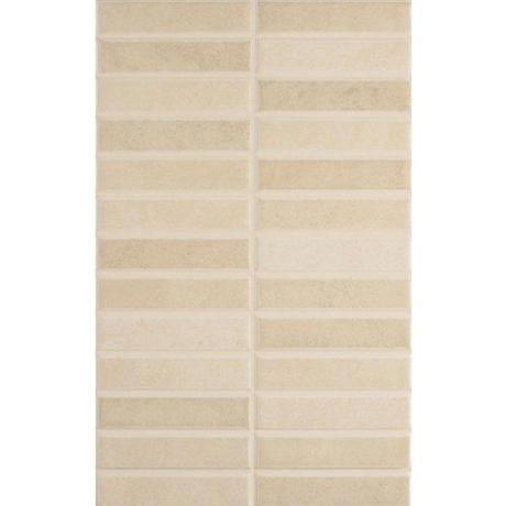 Laura Ashley - 10 Malvern Beige Pressed Mosaic Wall Satin Tiles - 248x398mm - LA51270