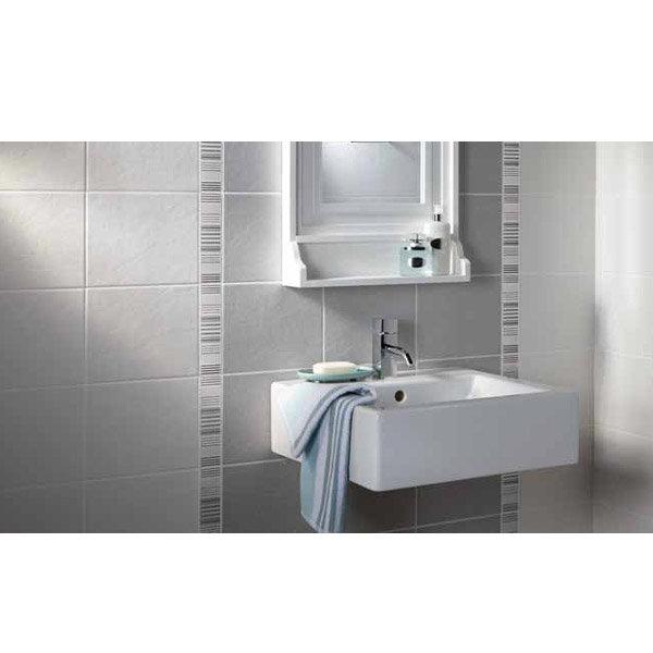 Laura Ashley - 6 Wiston Irving Stripe Cream Satin Strips - 198x50mm - LA51348 Profile Large Image