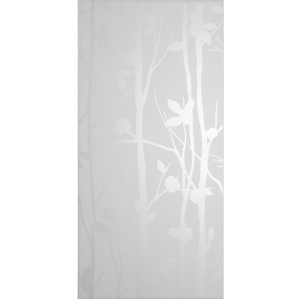 Laura Ashley Cottonwood Feature White Wall Tiles - 248 x 498mm - LA51454  Profile Large Image