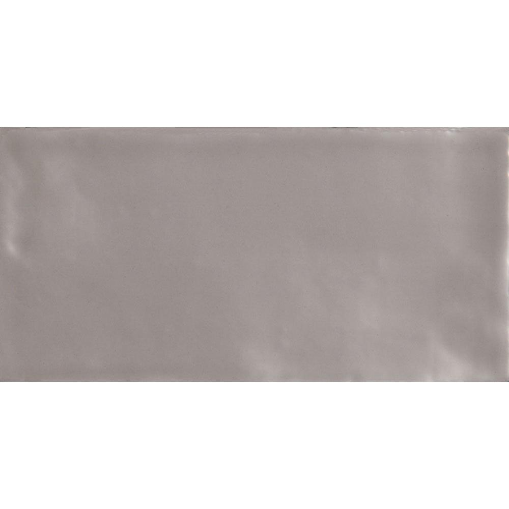 Laura Ashley - 22 Artisan French Grey Gloss Wall Tiles - 150x75mm - LA51546 Large Image