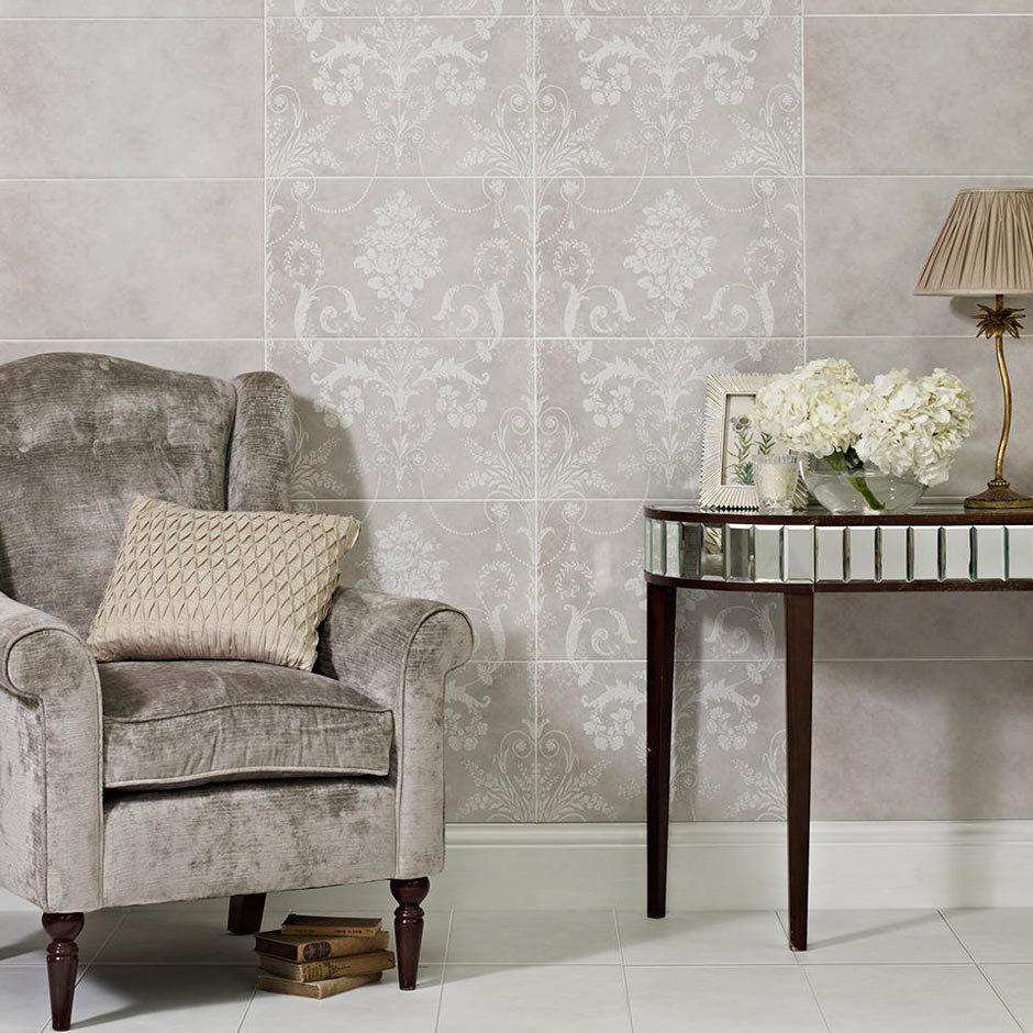 Laura Ashley Josette Dove Grey Decor Wall Tiles (Part B) - 298 x 498mm - LA51614  Profile Large Imag