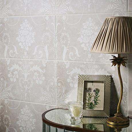 Laura Ashley Josette Dove Grey Decor Wall Tiles (Part A) - 298 x 498mm - LA51607