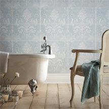 Laura Ashley Josette Duck Egg Decor Wall Tiles (Part A) - 298 x 498mm - LA51669 Medium Image