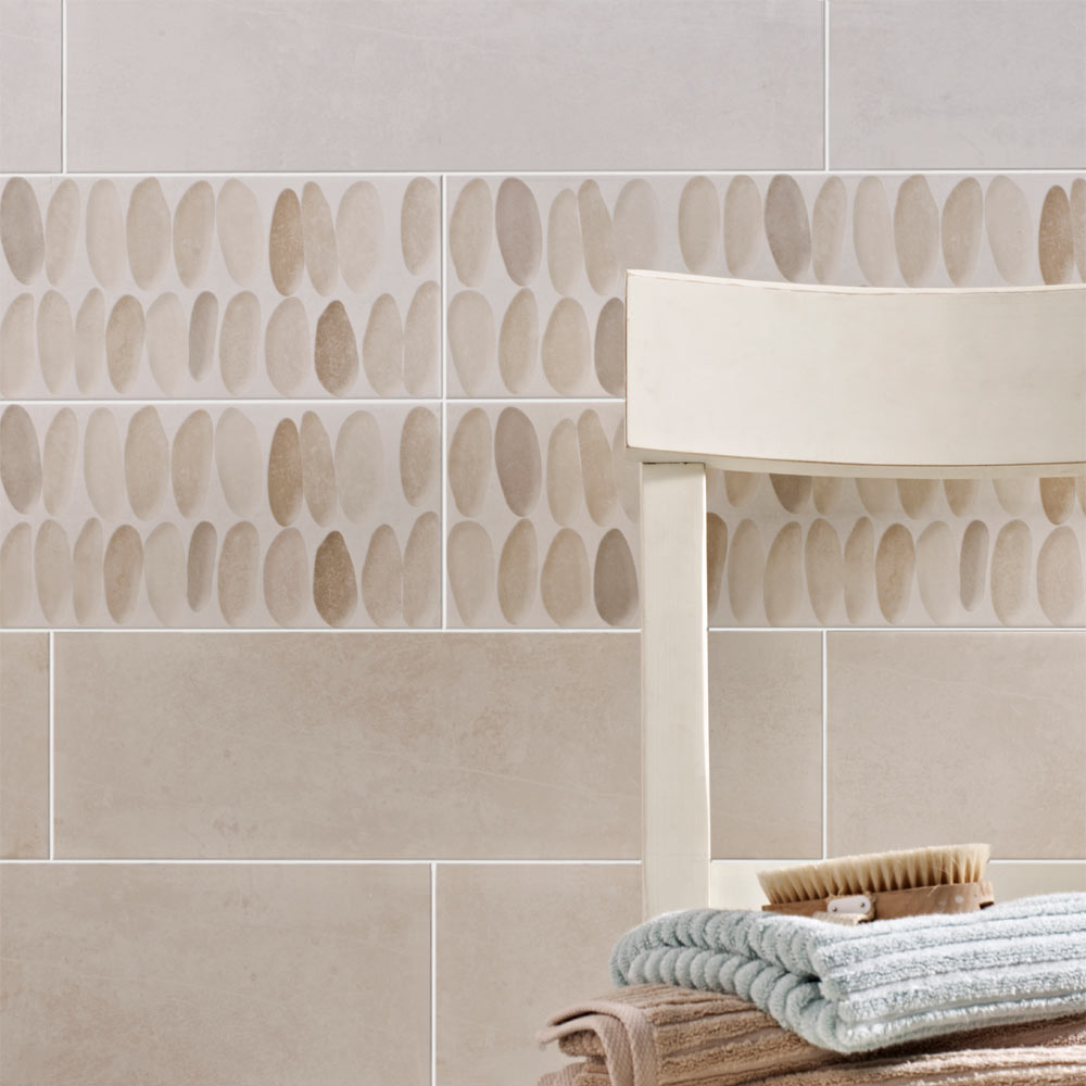 Laura Ashley Coastal Wallace Decor Natural Wall Tiles - 148 x 498mm - LA51751  Feature Large Image