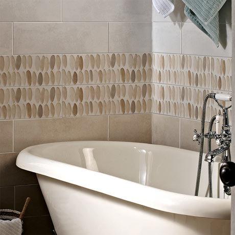 Laura Ashley Coastal Wallace Decor Natural Wall Tiles - 148 x 498mm - LA51751