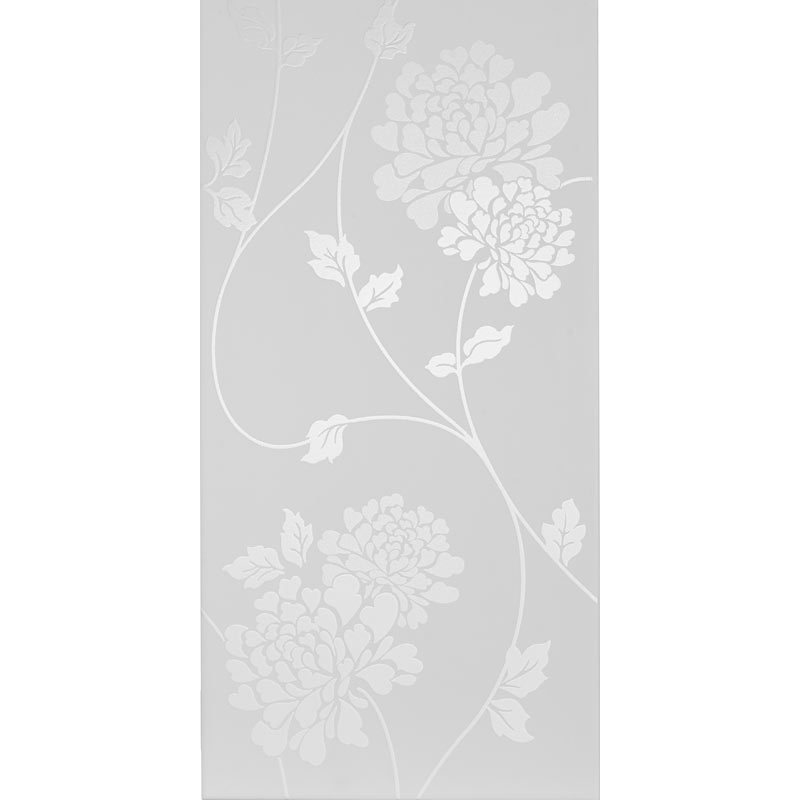 Laura Ashley Isodore Floral White Wall Tiles - 248 x 498mm - LA51898  Profile Large Image