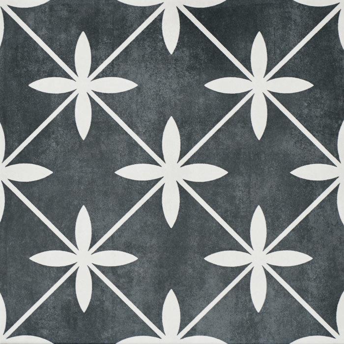 Laura Ashley Wicker Charcoal Floor Tiles - 331 x 331mm - LA51980  Profile Large Image