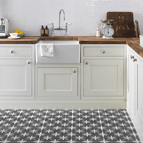 Laura Ashley Wicker Charcoal Floor Tiles - LA51980 | Tile Designs From Around The World