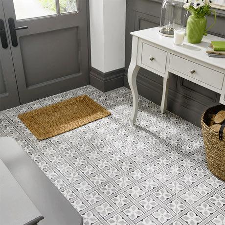 Laura Ashley Mr Jones Charcoal Floor Tiles - 331 x 331mm - LA52000