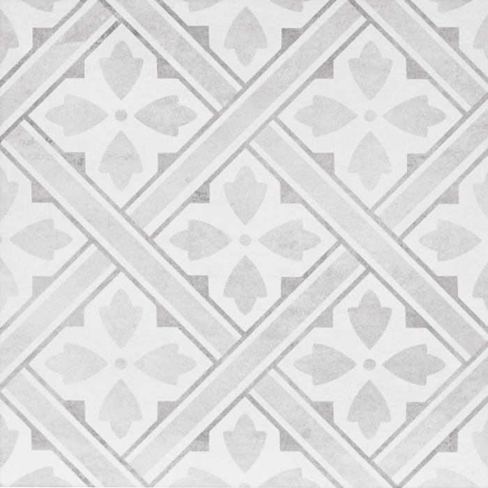 Laura Ashley Mr Jones Dove Grey Floor Tiles - 331 x 331mm - LA52017  Profile Large Image