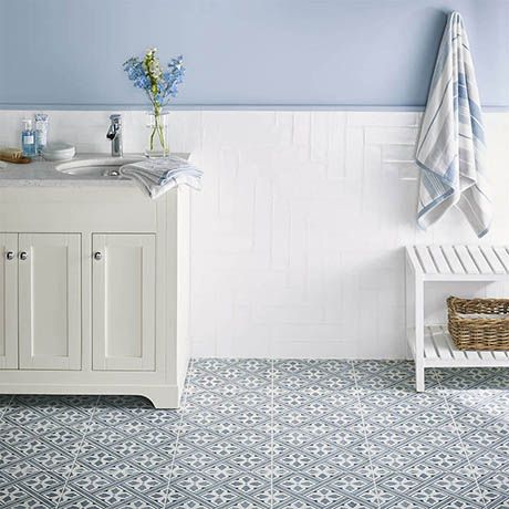 Laura Ashley Floor Tiles >> Laura Ashley Mr Jones Midnight Wall & Floor Tiles - 331 x