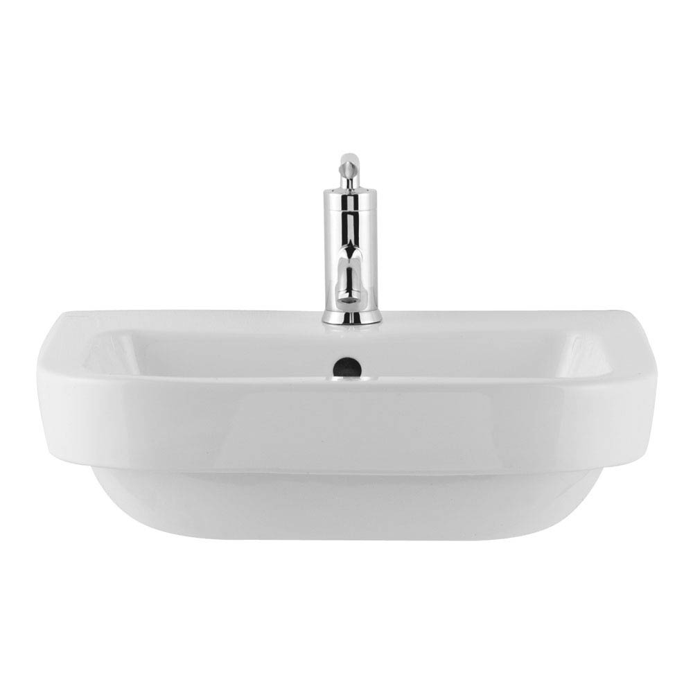 Premier Jenay 52cm Semi-Recessed Basin - 1 Tap Hole - LALIWH151 Large Image