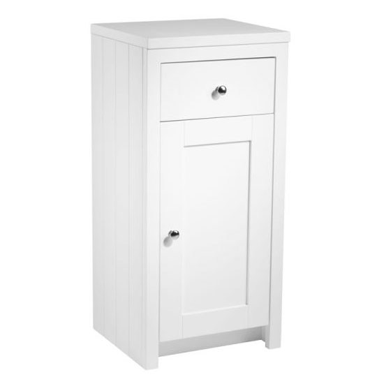 Tavistock Lansdown 400mm Freestanding Storage Unit - Linen White Large Image