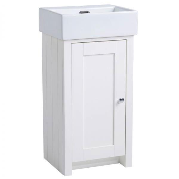 Tavistock Lansdown 400mm Cloakroom Unit with Basin - Linen White Large Image